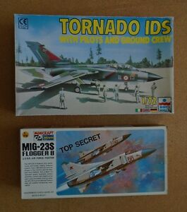 Various Vintage 1/72 scale WW2 to Modern aircraft model kits.