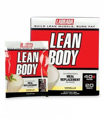 Labrada Nutrition Lean Body 42 Pack Whey Protein Powder Packets Meal Replacement Lean Body Powder