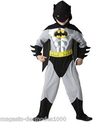 Original Lizenz Batman Kinderkostüm Batman Metallic Deluxe - Deluxe Kind Batman Kostüm