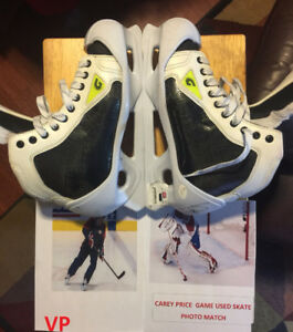 CAREY PRICE Game Worn Signed Montreal Canadiens Goalie Skates