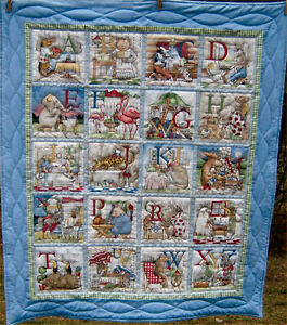 Hand quilted crib quilt for sale