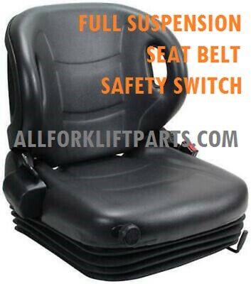 SEAT NISSAN FORKLIFT FULL SUSPENSION  VINYL SEAT BELT SAFETY SWITCH MODEL 3600H