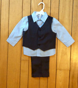 Little Boys 3 Pc Suit, Size 12-18 Months - St. Thomas