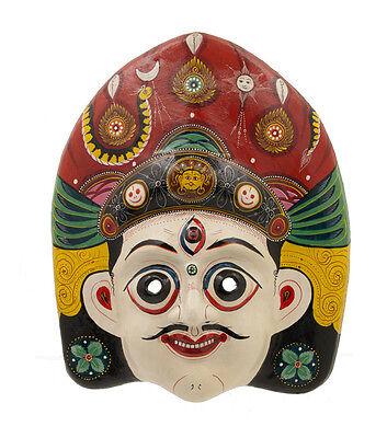 Mask Nepalese Swet Bhairab Indra Jatra Festival Nepal Paper Mache Mask 7198
