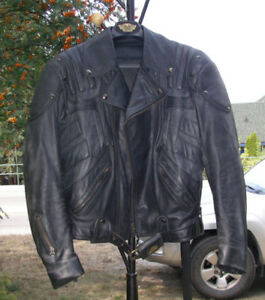 Leather Motorcycle Jacket As New