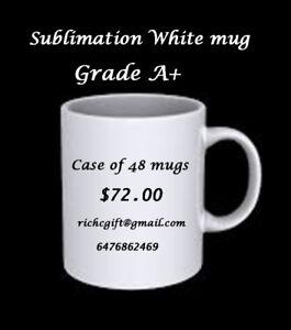 Wholesale Sublimation, 11 oz White mug (grade A+) with box