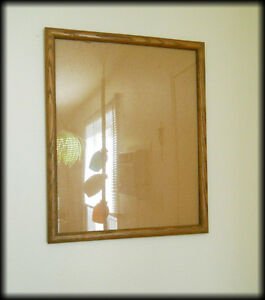 Vintage PICTURE FRAME with Glass ( 21.5 by 17.5 inches )