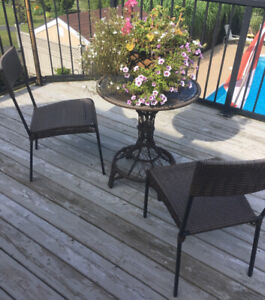 Patio table and chairs Bistro set