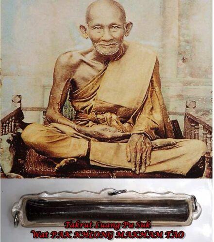 Takrut Amulet Luang Pu Suk Magic Thai Buddha For Lucky Talisman,100% Genuine