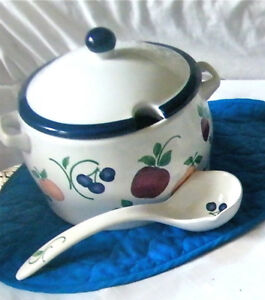 "HIGH QUALITY ""ORCHARD MEDLEY"" LARGE SERVING POT WITH LADLE*"