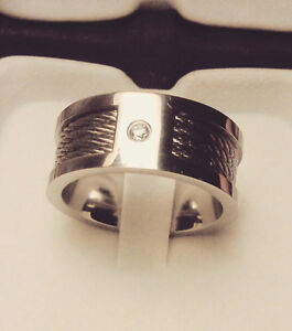Mens Stainless Steel Ring with Cables St. John's Newfoundland image 1
