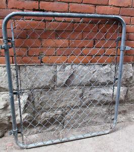 Vintage chain link gate