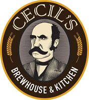 Cecil's Brewhouse & Kitchen Supervisor/Server Opportunity