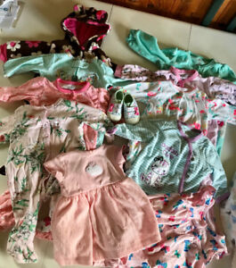 3 month baby girl clothing & diapers