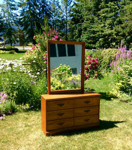 Vintage solid maple dresser