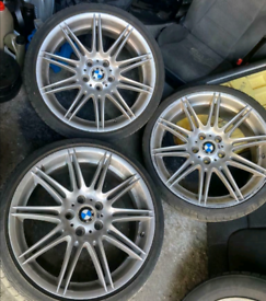 "Genuine set 19"" BMW mv4 alloys with tyres"