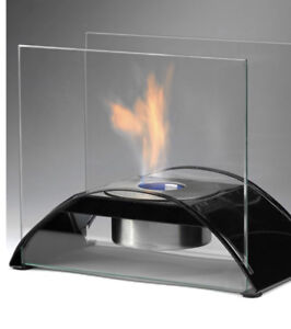 Eco Feu Bioethanol outdoor tabletop fire feature Stainless.