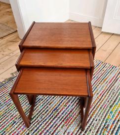 G Plan Quadrille mid century teak nest of tables