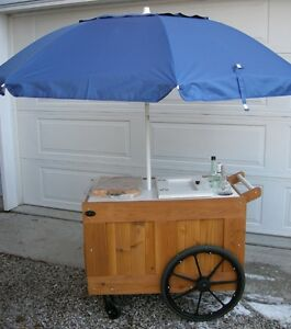 REDUCED - WINE & BEER CART FOR YOUR DECK - PORTABLE BAR