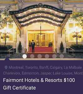 Gift Card- Fairmont Hotels & Resorts Kitchener / Waterloo Kitchener Area image 1