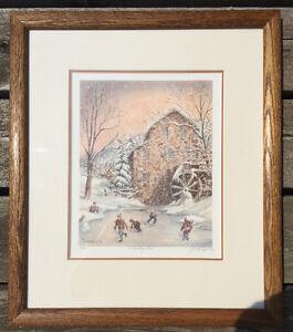 """Gerald Topolinsky """"A Holiday Skate"""" Framed Signed 77/490 London Ontario image 1"""