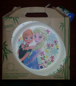 Disney Frozen Trudeau 3 Piece Bamboo Fiber Dinner Set ($5)