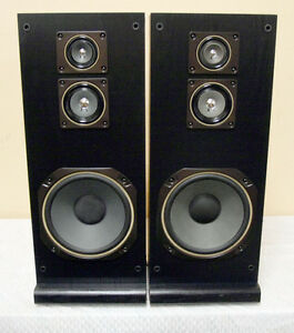 Original Japan Mitsubishi 100 Watt Tower 3Way Speakers SEE VIDEO