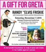 "Randy ""Elvis"" Friskie and Cassandra sing for Greta"