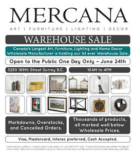 Home Decor Warehouse Sale