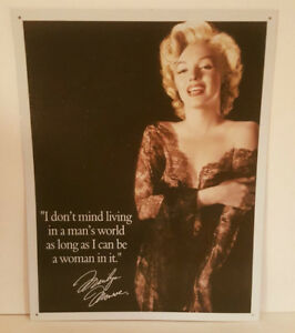 Marilyn Monroe Living in a Man's World Retro Vintage Tin Sign