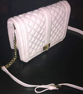 Authentic quilted GUESS purse with gold chain strap