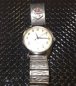 1971 N1 Caravelle by Bulova wind up watch medic alert band