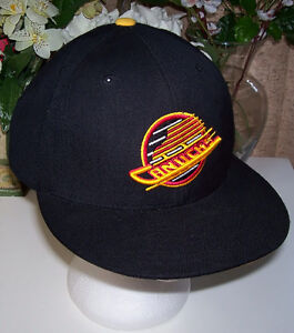 Vancouver Canucks NHL Pro Fitted Cap  First came Mitchell and Ne London Ontario image 1