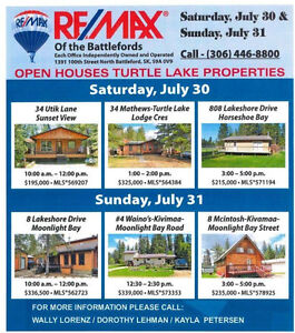 CABIIN OPEN HOUSE AT TURTLE LAKE SATURDAYJULY 30 & SUNDAY JULY31