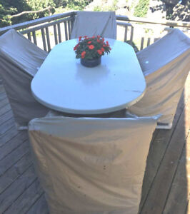 Commercial grade patio table and 4 chairs - REDUCED