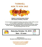 Fall Mom To Mom Sale - Thornhill