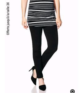 Pantalon Noir de maternité XXL