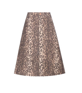 See by Chloé Leopard Printed Skirt
