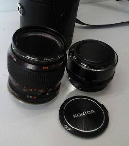 55mm Konica Macro Lens Kit with Canon EOS Adaptor.