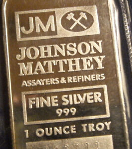 1 oz Johnson Matthey TD Bank Fine Silver Bar ~ Sealed
