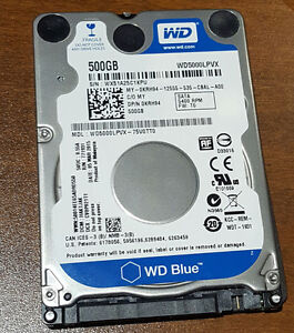 Hard Disk Drive WD for Laptop 500Gb