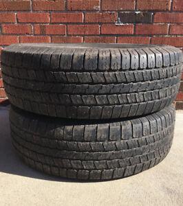 Tires: 265 70R17: 2 Goodyear Wrangler SR-A 265 70R17