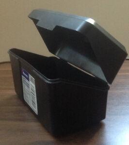 """New Newell 3"""" x 5"""" Index Card File Box, Black"""