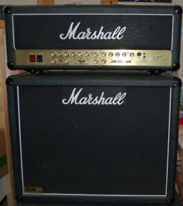 Marshall 3-channel 60 W amp and speaker cabinet