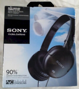 ***Sony MDRNC8/BLK Noise Canceling Headphone, Black – NIB***