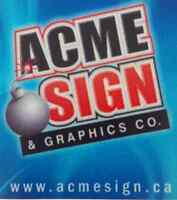 Graphic Designers, Sign and Vinyl Installers, Sales Positions