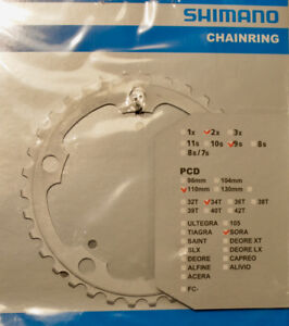 Shimano 34T / 110mm BCD chainring *New*