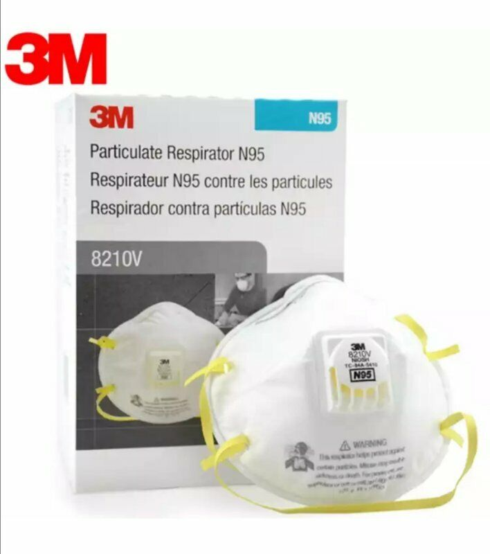 3M 8210V N95 Particulate Respirator W/ Exhalation Valve 10 Masks Box EXP 05/2026 Business & Industrial