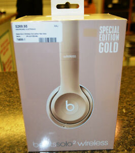 Beats Solo 2 Wireless Gold Edition New In Nox