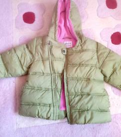 USED Next girls winter coat
